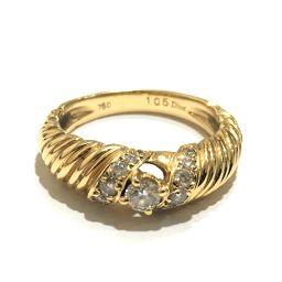 Dior ディオール  ジュエリー ダイヤモンド リング・指輪 K18/ ダイヤモンド 11号 イエローゴールド レディース【中古】