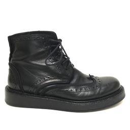 DIOR HOMME ディオール・オム   メンズシューズ  11AW ウイングチップ ブーツ レザー ブラック メンズ