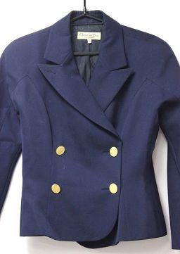 Christian Dior クリスチャンディオール   スカートスーツ セットアップ/毛100% ネイビー レディース