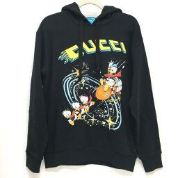 GUCCI Gucci Disney Donald Doug Washed Men's Sweatshirt Shirt Parker Men's Black