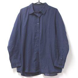 EMODA Emoda Top Long Sleeve Shirt Polyester / Cotton Navy Ladies