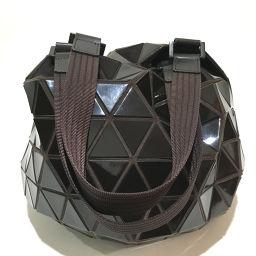 ISSEY MIYAKE イッセイミヤケ   肩掛けショルダーバッグ バオバオ BAOBAO ボール型 ハンドバッグ PVC ブラウン レディース