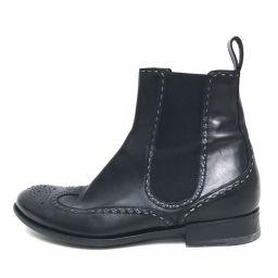 BOTTEGA VENETA ボッテガヴェネタ   ウィングチップ サイドゴアブーツ ブーツ レザー ブラック メンズ