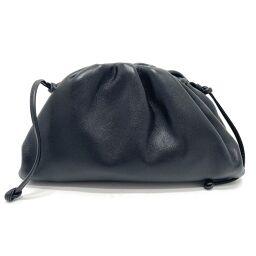 BOTTEGA VENETA 585852 Clutch bag Mini The Pouch Shoulder Bag Bag Pouch Accessory Case Shoulder Bag Smooth Leather Ladies Black