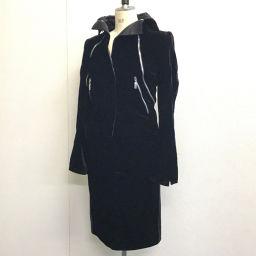GIANFRANCO FERRE ジャンフランコ・フェレ   アウター 上着 ジャケット&スカート ベルベット セットアップ レーヨン/キュプラ ブラック レディース