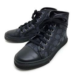GUCCI グッチ   426186 靴 シューズ ハイカットスニーカー スニーカー GGキャンバスxレザー/ ブラック レディース