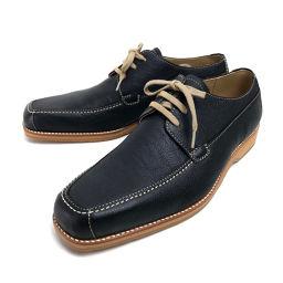 BURBERRY バーバリー   靴 カジュアル ビジネスシューズ レザーシューズ レザー/ ブラック メンズ