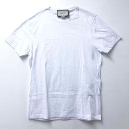 GUCCI グッチ   441685  トップス ロゴプリント 半袖Tシャツ コットン ホワイト メンズ