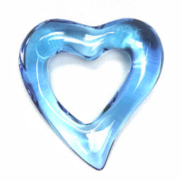 Baccarat Baccarat Pendant Heart Necklace Crystal Glass / Blue Ladies