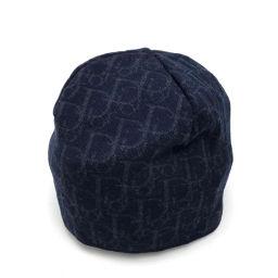 Christian Dior クリスチャンディオール   ニットキャップ  ニット帽 ビーニー ロゴ トロッター メンズ レディース 帽子 ウール ネイビー ユニセックス