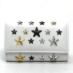 JIMMY CHOO 6 key case Stars Tads men's ladies key case leather white unisex