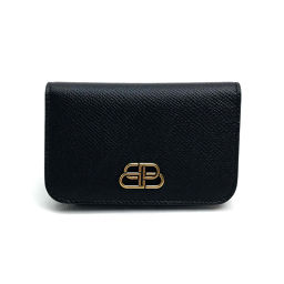 BALENCIAGA Balenciaga 601486 Key Logo Key Case BB 6 Key Case Men Women Key Case Leather Black Unisex