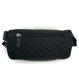 GUCCI Gucci 449182 Body Bag Belt Bag Waist Pouch GG Men's Women's Hip Bag / Waist Bag Nylon Black Unisex