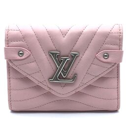 LOUIS VUITTON ルイ・ヴィトン  M63730 LV金具 ニューウェーブ  コンパクト・ウォレット 三つ折り財布(小銭入れあり) カーフレザー レディース スムージーピンク ピンク