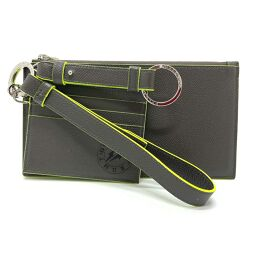 BVLGARI Bvlgari 289536 Bvlgari x Fragment Phone Case Accessory Case Card Case Leather Men's Gray