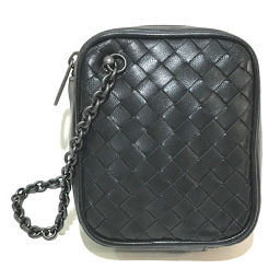 BOTTEGA VENETA Bottega Veneta Pouch Chain Intrecciato Accessory Pouch Leather Black Ladies