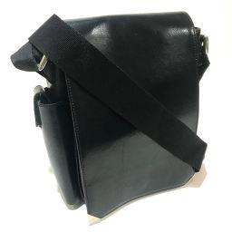 GIVENCHY Givenchy Pochette Flap Bag Shoulder Slanting Shoulder Bag Leather Black Ladies