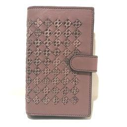 BOTTEGA VENETA ボッテガヴェネタ   121060 イントレチャート アイヤーズ チェック 二つ折り財布(小銭入れあり) レザー グレージュ グレー レディース