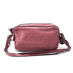 Chloe Chloe 03-12-51-65-5955 Pouch Pochette 2WAY Logo Shoulder Bag Leather Pink Series Ladies