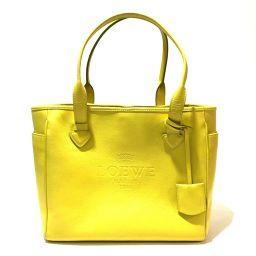 LOEWE LOEWE shoulder bag handbag heritage logo tote bag leather yellow ladies