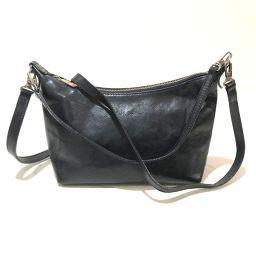 Paul Smith Paul Smith Shoulder Bag Handbag 2way Bag Leather Black Ladies