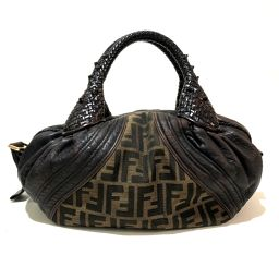 FENDI Fendi 8BL078 Zucca Mini Spy Bag Handbag PVC × Leather Brown Ladies