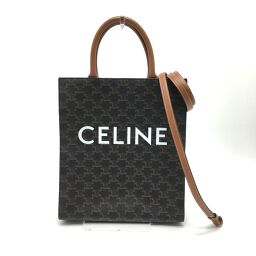 CELINE Celine 191542 Triomphe Vertical Cover Small Tote Bag PVC / Leather Ladies Brown
