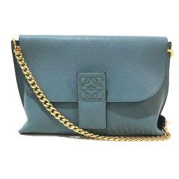 LOEWE LOEWE Chain Chain Bag Avenue 310.11.N49 Shoulder Bag Leather Light Blue Ladies