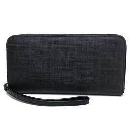 FENDI フェンディ   ラウンドファスナー長財布  トラベルケース ズッカ メンズ レディース 長財布(小銭入れあり) PVC/ ブラック系 レディース