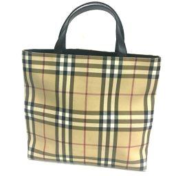 BURBERRY バーバリー   ハンドバッグ レディースバッグ ノバチェック トートバッグ PVC×レザー ベージュ レディース