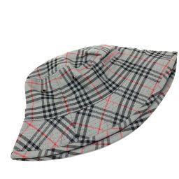 BURBERRY バーバリー   ハット帽子 チェック柄 帽子 キャンバス ダークグレー系 レディース