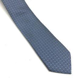 Salvatore Ferragamo サルヴァトーレフェラガモ   マイクロガンチーニ柄  ネクタイ シルク/ ブルー メンズ