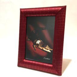 CARTIER カルティエ   メンズ レディース ラドーニャコレクション クロコモチーフ フォトフレーム 非売品 その他 ボルドー ユニセックス