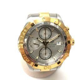 TAG HEUER タグホイヤー   CAF2120 アクアレーサー クロノグラフ 腕時計 SS×GP/ シルバー メンズ