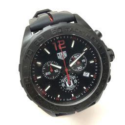 TAG HEUER タグホイヤー   CAZ101J  フォーミュラ1 クロノグラフ マンチェスター・ユナイテッド 腕時計 SS/ラバー/ ブラック メンズ