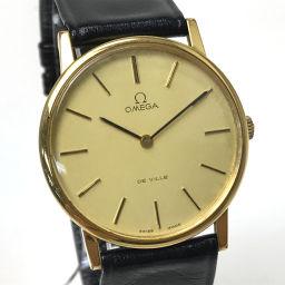 OMEGA オメガ   デ・ビル  腕時計 レザー/GP ゴールド メンズ