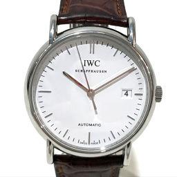 IWC インターナショナルウォッチカンパニー   IW353312 ポートフィノ cal.30110 メンズ腕時計 腕時計 SS×革ベルト シルバー メンズ