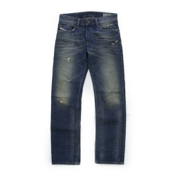 Diesel WAY KEE · Straight pants damage Denim / W23_L30 / Indigo Blue / DIESEL next day delivery available / b 190 316 ■ 283 168