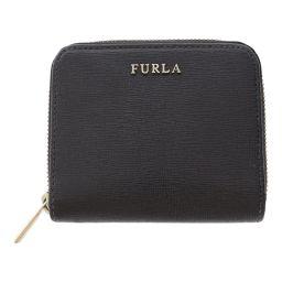フルラ 2つ折り財布 コンパクト ジップウォレット/ブラック×ゴールド/FURLA 翌日配送可/b190907■307154