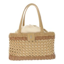 Roberta di Camerino basket / basket / bag bag drawstring R hardware / beige / Roberta di Camerino next day delivery available / b 190 701 ■ 297 100