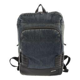 Diesel rucksack denim × leather / blue / DIESEL next day delivery possible / b 190 724 ■ 299 005