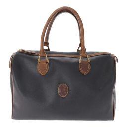 Trussardi Boston Bag PVC × Leather Logo / Black / Brown / TRUSSARDI Next day delivery available / b190 925 310565