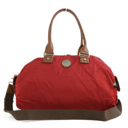 Orobianko nylon 2WAY Boston bag / Red × Brown / Orobianco next day delivery available / b 190 214 ■ 278472