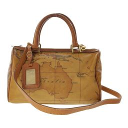 Prima Classe 2WAY mini Boston bag map pattern shoulder strap / light brown / PRIMA CLASSE next day delivery possible / b 190615 ■ 295162