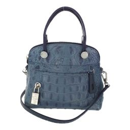 Furla Piper mini 2WAY handbag shoulder strap embossed / blue / FURLA next day delivery possible / b200310 ■ 334131