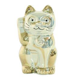 バカラ LUCKY CAT・まねき猫 置物etcその他雑貨/ゴールド/BACCARAT 翌日配送可■212981