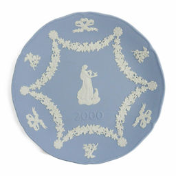 Beauty goods · Wedgewood Jasper 2000 commemorative plate / blue × white / WEDGWOOD next day delivery possible / b 190 323 ■ 28 3893