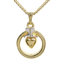 Courreges Logo Heart motif / Necklace / Pendant / Alloy / Plating-5.6g / Gold x Silver / Courreges Next day delivery available / h200218 ■ 329618