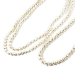アコヤ真珠/Japan Pearl・2本セット・連ネックレス・2連ネックレス・ペンダント・ラウンド/Silver/133.1g/PAΦ6.0-7.5mm■207357