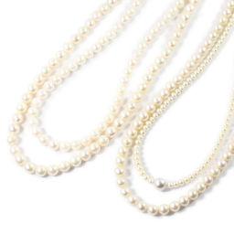 ジュエリーセット・アコヤ真珠/Japan Pearl・アコヤパール3本・淡水パール1本ネックレス・ペンダント/Silver/99.3g/Φ4.0-8.3mm■207359